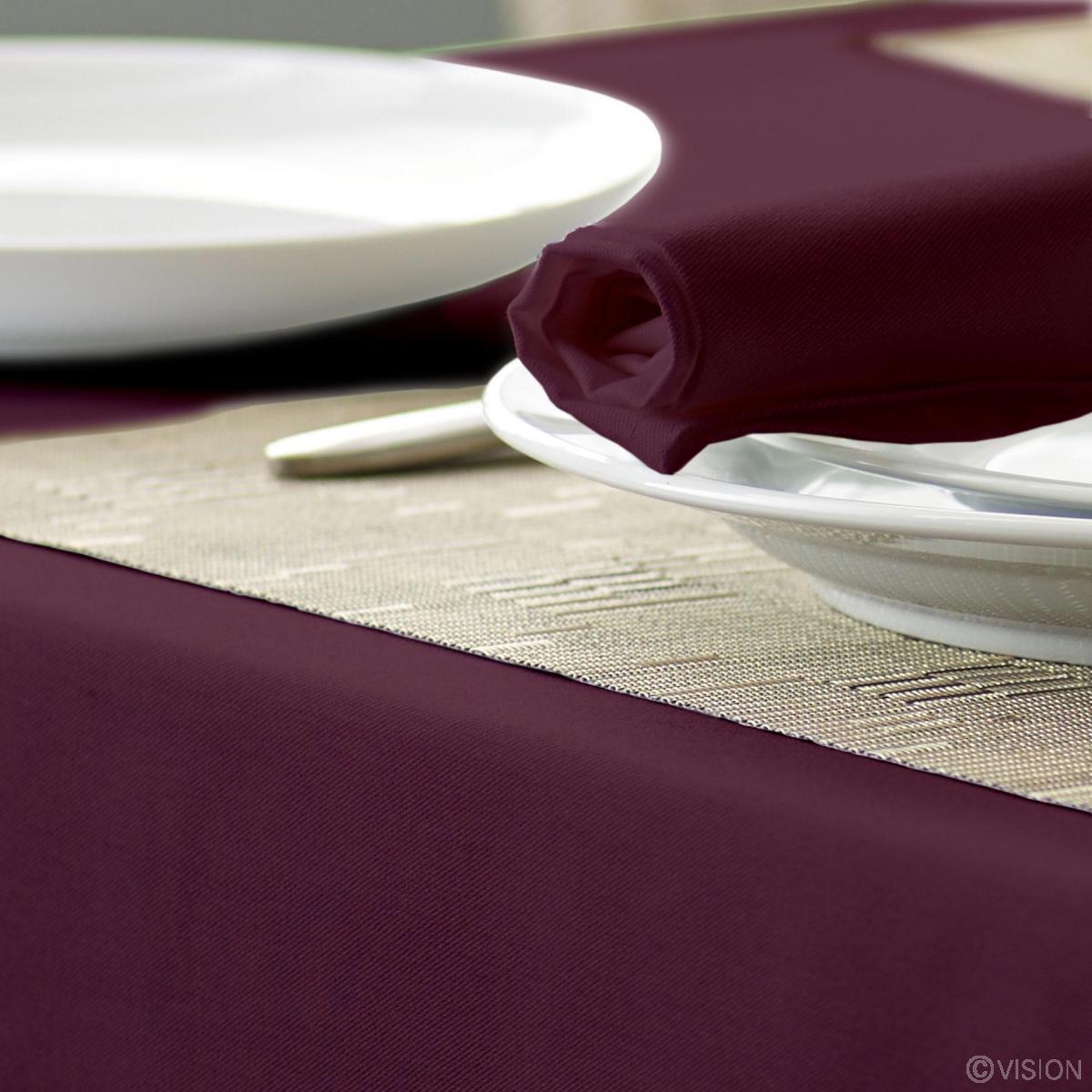 Alpha Claret Coloured Circular Tablecloth 100% Spun Polyester