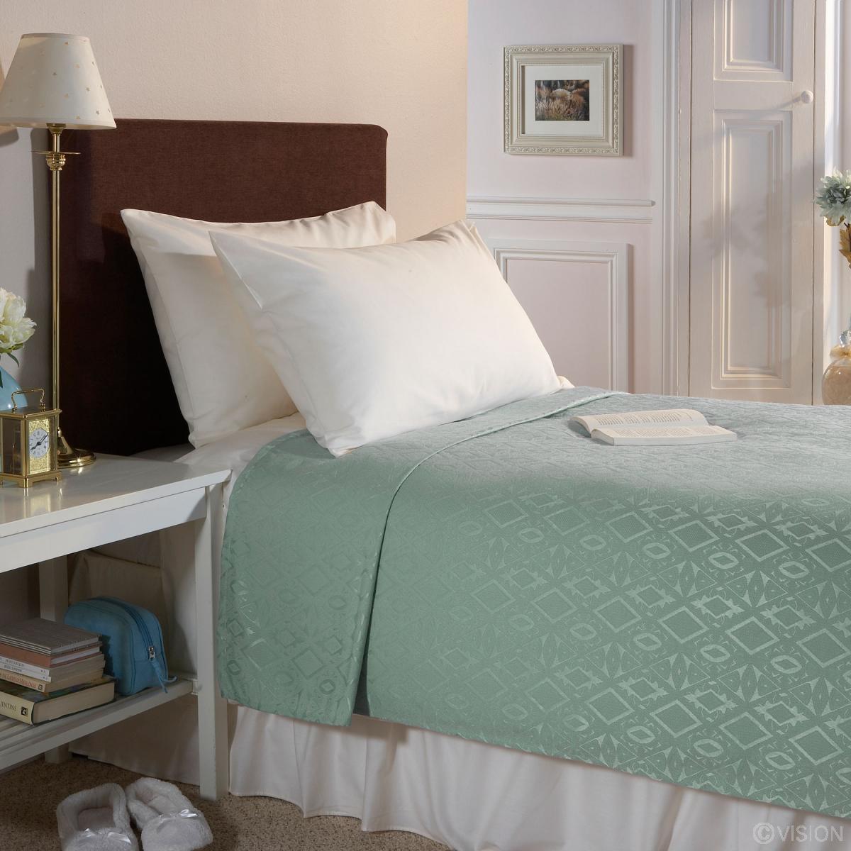 Buy Fire Retardant Blankets Polyester In Cream Or Green