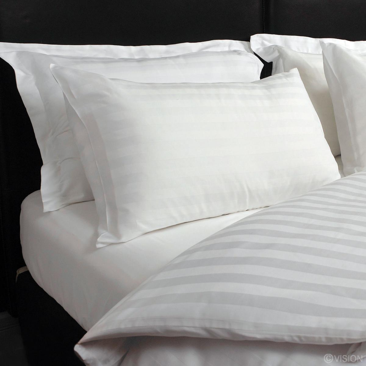 Luxury Satin Striped Pillowcases With Cotton Rich Blend