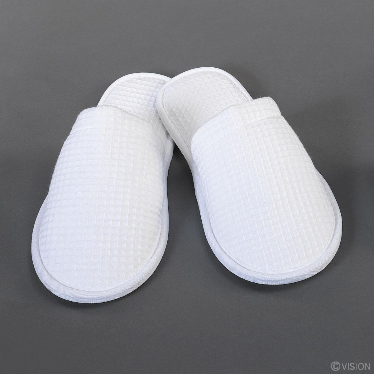 Luxury White Waffle Slippers For Hotel Amp Spa Use