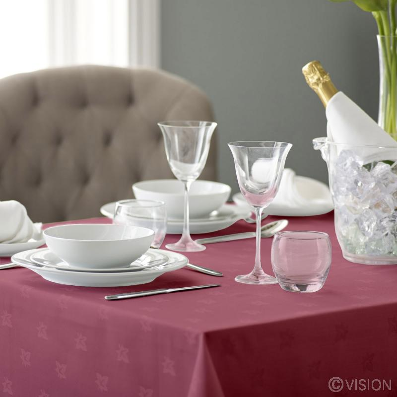 White classic Ivyleaf tablecloth