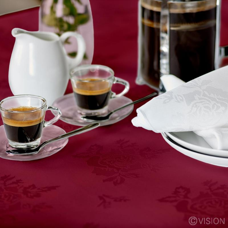 Apollo rose tablecloth detail