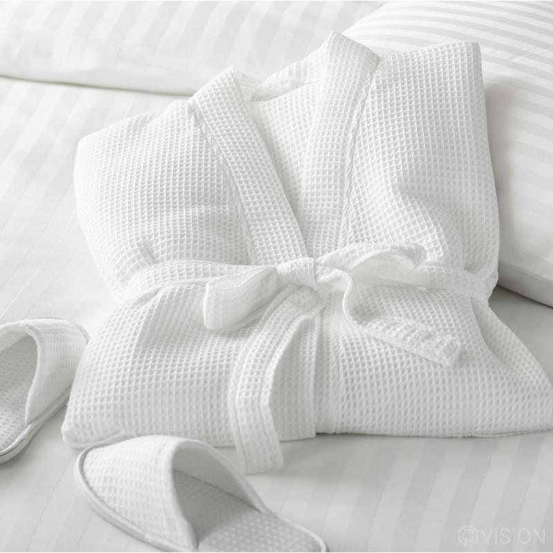 White classic Harvard bathrobe