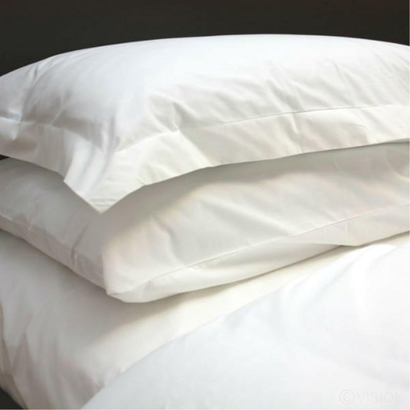 Cotton percale flat sheets - queen size