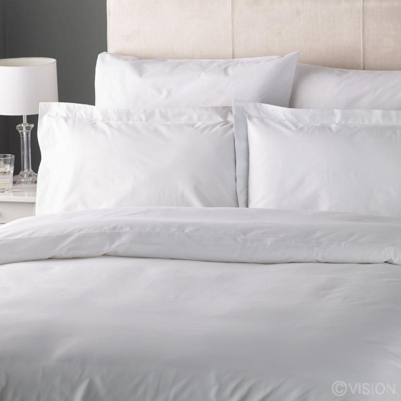 Fusaro White Cotton Rich Duvet Cover