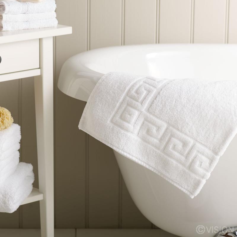 Greek Key 100% Cotton Bath Mat
