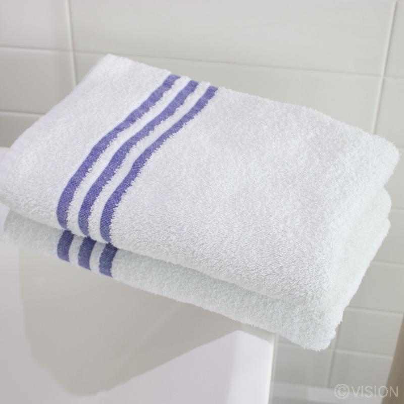 White leisure bath towels