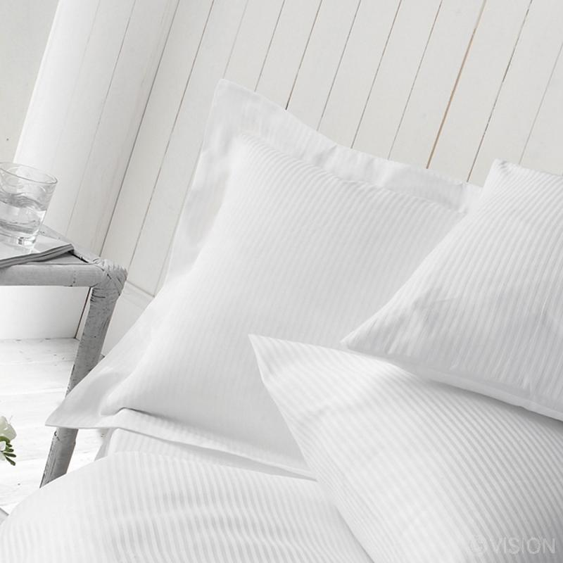 Garda 5mm satin stripe pillowcase detail