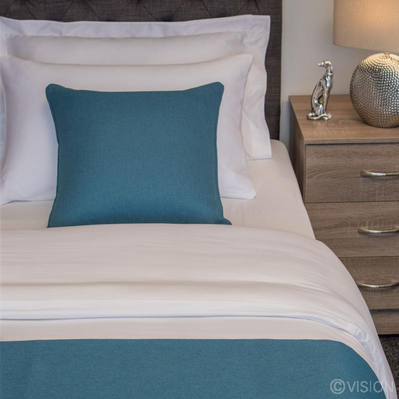 Nightingale Coloured Classic Cushion - Kingfisher
