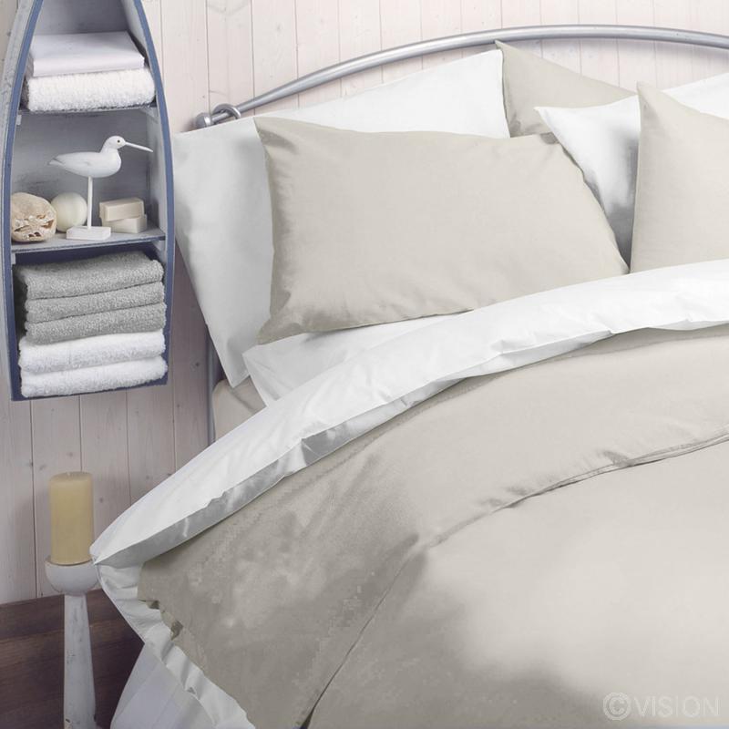 Cream plain polycotton pillowcase