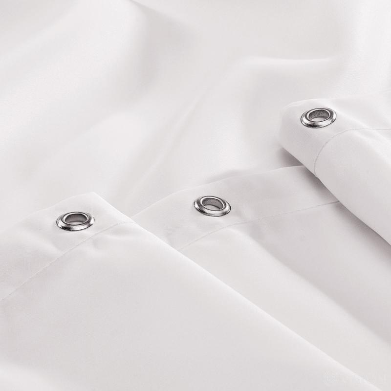 Henley Plain Shower Curtain - White