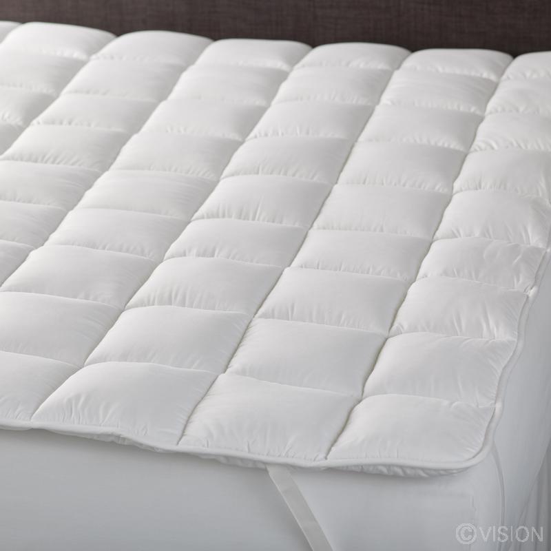 Deep filled mattress topper pad