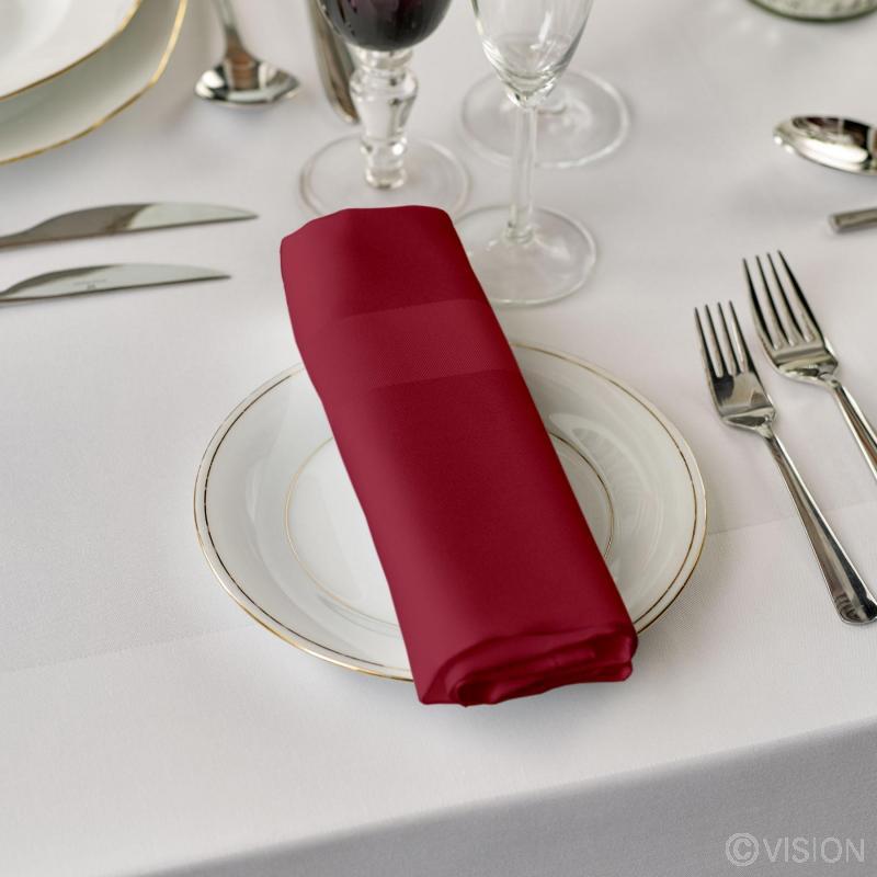 Coloured 100% cotton satin band napkins