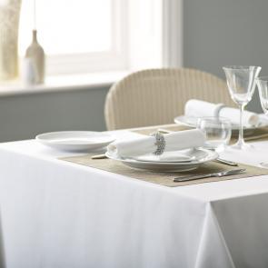Alpha bistro plain white tablecloth