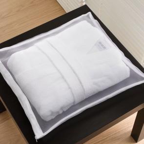Bathrobe mesh storage bag