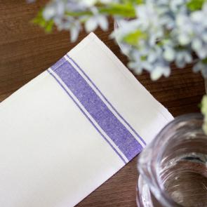 Everyday glass cloth with blue border