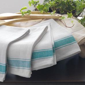 Striped Border Kitchen Cloth - Green Design