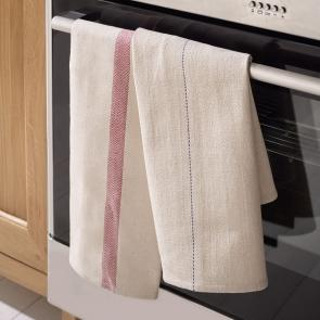 Oven cloth with blue line
