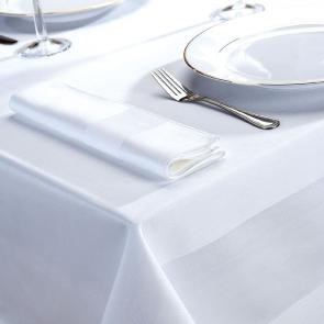 Delta white satin band napkin