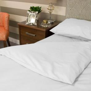 White satin stripe Fire Retardent pillowcase