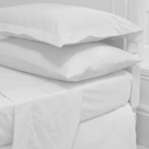 Fusaro plain cotton rich flat bed sheet