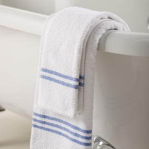 Leisure hand towel blue header