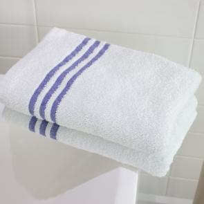 White leisure bath towels