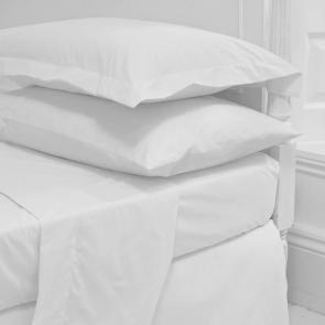 Luxury Plain Sateen Flat Sheets - Queen