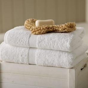 Monet 100% cotton guest towel - White