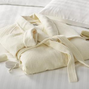 Liddell Applewood Spa Bathrobe (Ecru)