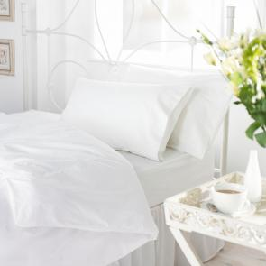 Orta White Polycotton Duvet Cover