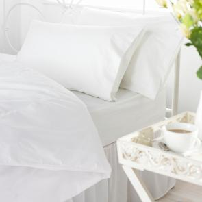 Orta plain polycotton fitted sheet