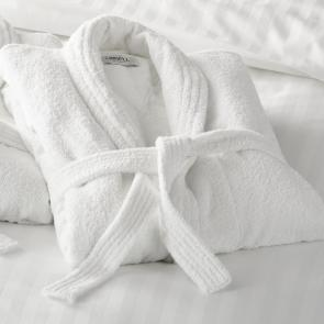 Richmond ultimate white luxury bathrobe