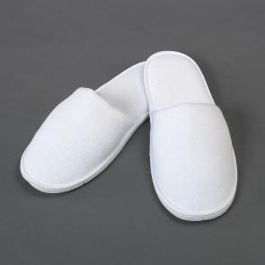 White terry cotton hotel and spa slipper - Closed toe style