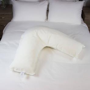 Glen V Shaped Pillow Side View
