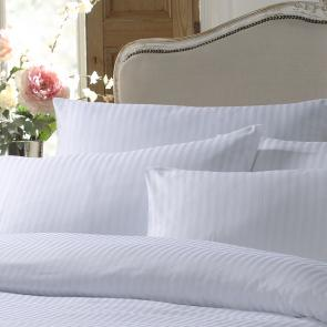 FR Polyester Satin Stripe Pillowcase - Housewife Style