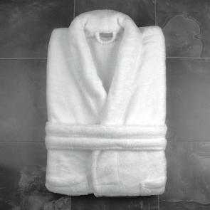 Super soft white bathrobe